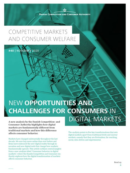 New opportunities and challenges for consumers in digital markets